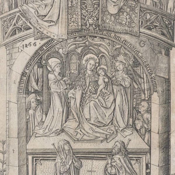 Meister E.S. - The Large Virign of Einsiedeln (1466)